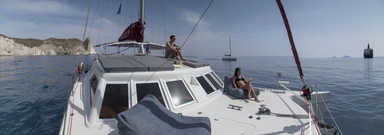 Luxurious private yachting experience in Santorini